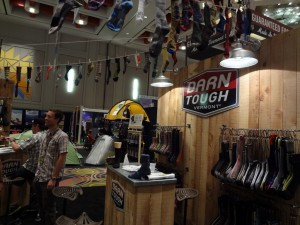 The Darn Tough booth reflected their Vermont roots and healthy love for socks at Outdoor Retailer 2012 Summer Market. (Photo: Ryan Malavolta - UtahOutside.com)