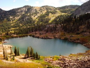 The hike to Cecret Lake in Alta's Albion Basin will afford you this amazing view. (Photo: JaredHargrave - UtahOutside.com)