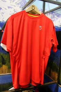 The Season Five Animas S/S Tee at Outdoor Retailer 2012 Summer Market. (Photo: Jared Hargrave - UtahOutside.com)