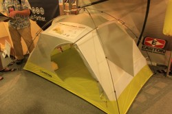 The Easton Mountain Products Rimrock 2P set up at the Outdoor Retailer 2012 Summer Market. (Photo: Jared Hargrave - UtahOutside.com)
