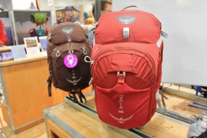 Updated Osprey Mira and Mantra hydration packs at Outdoor Retailer 2012 Summer Market. (Photo: Jared Hargrave - UtahOutside.com)
