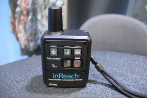 The DeLorme inReach 2-way Satellite Communicator at 2012 Outdoor Retailer Summer Market. (Photo: Jared Hargrave - UtahOutside.com)