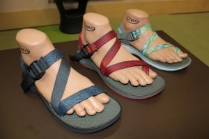 More standard Chaco styles are in the NearGround Collection, like the men's Mighty sandals and women's Fantasia. (Photo: Jared Hargrave - UtahOutside.com)