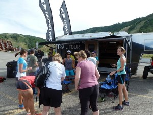 The Salomon mobile showroom at the base of Park City Mountain Resort.