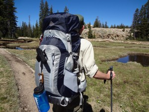 Even under a heavy load your bag should feel great. The author hiking with the Kelty Rally 45 in the Uintas. (photo: Ryan Malavolta- Utahoutside.com)