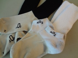 Some of the A02 sock lineup. The anklets are perfect for daily wear, while the MedRX's are the ideal cut for hiking socks. (photo Ryan Malavolta- Utahoutside.com)