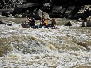 The paddle raft navigating Skull Rapid in Westwater Canyon, Utah. (Photo: Bryson White - UtahOutside.com)