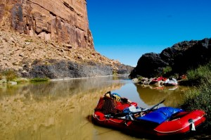 The view from our lunch spot on the first day of rafting Westwater Canyon. (Photo: Bryson White - UtahOutside.com)