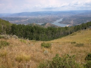 The view from the Bowhunter Trail, with Jordanelle Reservoir and the Uinta Mountains. A perfect spot for a picnic lunch. (Photo: Jared Hargrave - UtahOutside.com)