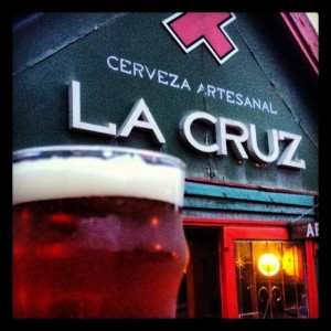 La Cruz Cerveza Artesanal - The best beer in Bariloche. (Photo: Jared Hargrave - UtahOutside.com)