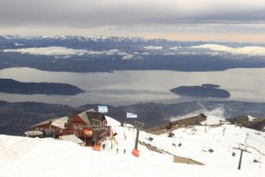 View from the top of Cerro Catedral with Nahuel Huapi Lake far below. (Photo: Jared Hargrave - UtahOutside.com)