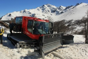 A brand new, snowcat at Refugio Baguales. (Photo: Jared Hargrave - UtahOutside.com)