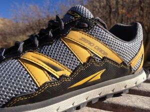 The Altra Lone Peak shoes feature cool designs of the Wasatch Range. (Photo: Jared Hargrave - UtahOutside.com)