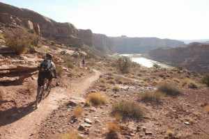 The end is in sight when you find yourself above the Colorado River on the Porcupine Rim Trail. (Photo: Jared Hargrave - UtahOutside.com)