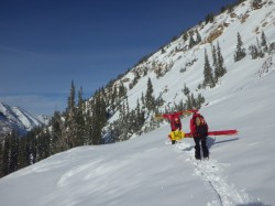 Ski Patrol readies the mountain for opening day.