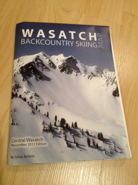 New Wasatch Backcountry Skiing Map an encyclopedia of routes