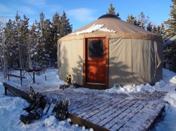 Bear Claw is the largest of five yurts in the area. (Photo: Ryan Malavolta - UtahOutside.com)