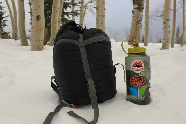 The High Peak USA Latitude compresses down to a small size using its own compression sack and straps. (Photo: Jared Hargrave - UtahOutside.com)