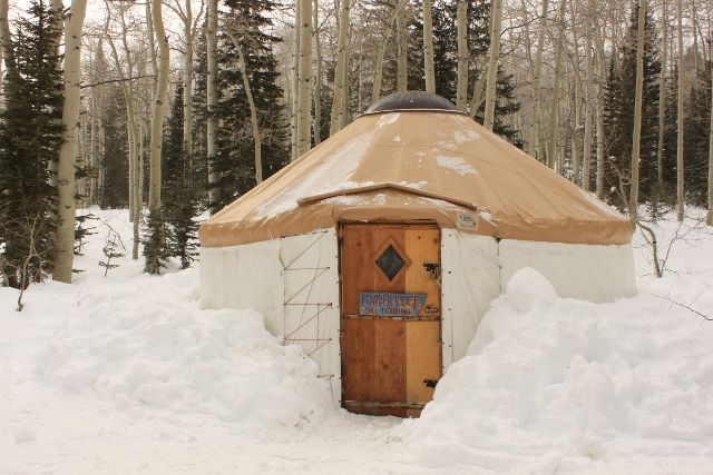 Winter nights at the Bunchgrass Yurt
