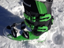 The redesigned Black Diamond Factor Mx 130 ski boots, tested and reviewed at Outdoor Retailer 2013 All Mountain Demo. (Photo: Jared Hargrave - UtahOutside.com)
