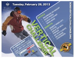6th Annual Bob's Vertical Challenge at Snowbasin. (Courtesy Image)