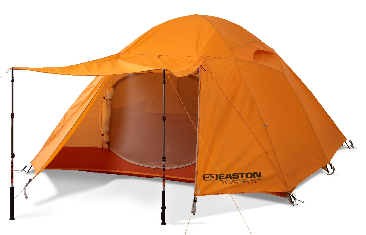 The Easton Torrent 3P tent with vestibule turned into an awning using trekking poles.  sc 1 st  Utah Outside & Easton pitches the new Torrent 3P tent at Outdoor Retailer 2013 ...