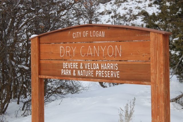 This cozy sign welcomed us as we arrived to backcountry ski Logan Peak in Dry Canyon. (Photo: Jared Hargrave - UtahOutside.com)