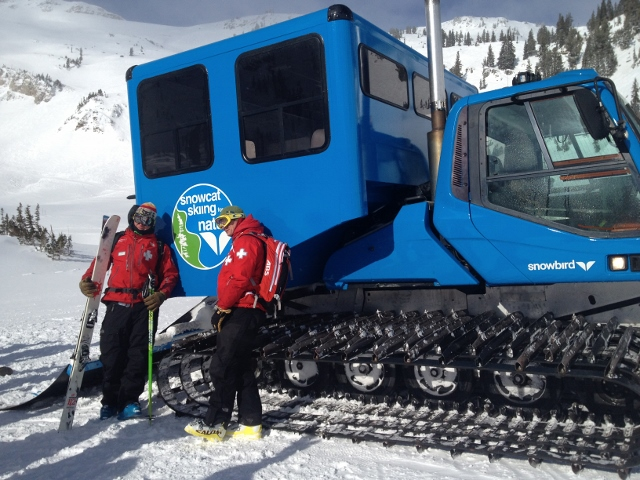The new Snowbird Snowcat, offering guided backcountry skiing in Mineral Basin. (Photo: Snowbird)