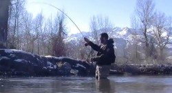 "Video still from the KSL Outdoors show ""Fly Fishing the Weber River."" (Image: KSL TV)"