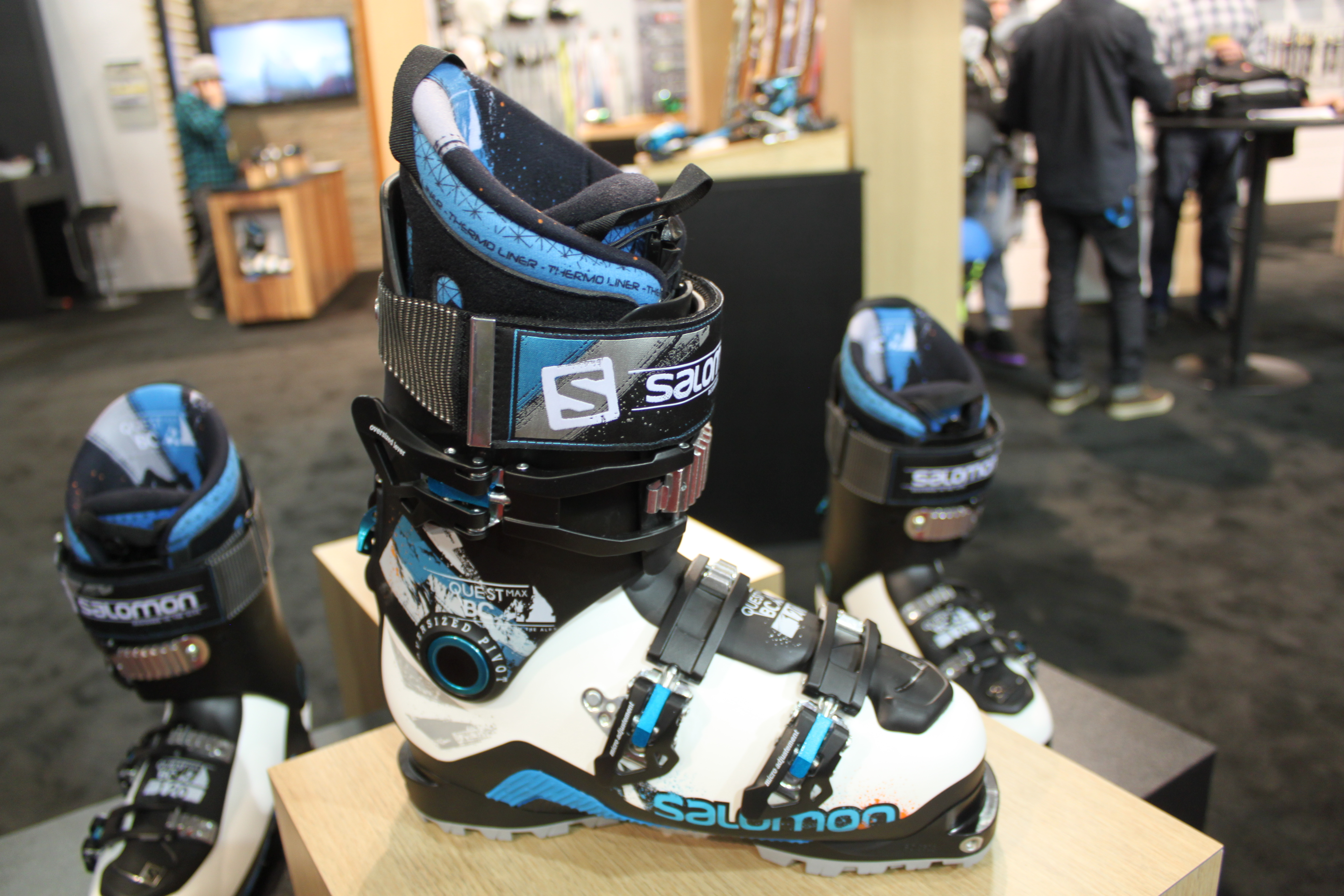 The Salomon Quest Max BC 120 ski boots as seen at Outdoor Retailer, just waiting for review. (Photo: Jared Hargrave - UtahOutside.com)