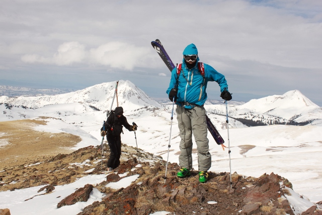 Eric Ghanem and Adam Symonds stand atop the wind-blown summit of Delano Peak. (Photo: Jared Hargrave - UtahOutside.com)