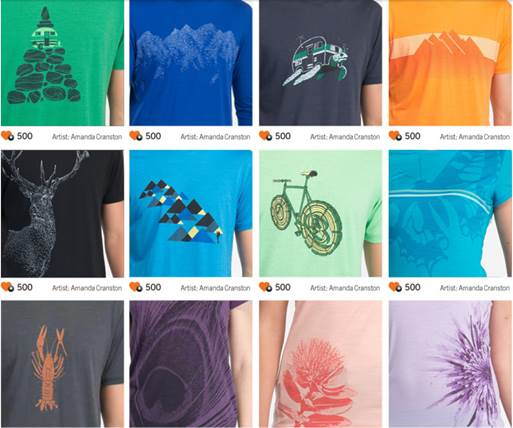 0e8fccaa Artist designed shirts from Icebreaker will be given away every day as part  of the $1,000
