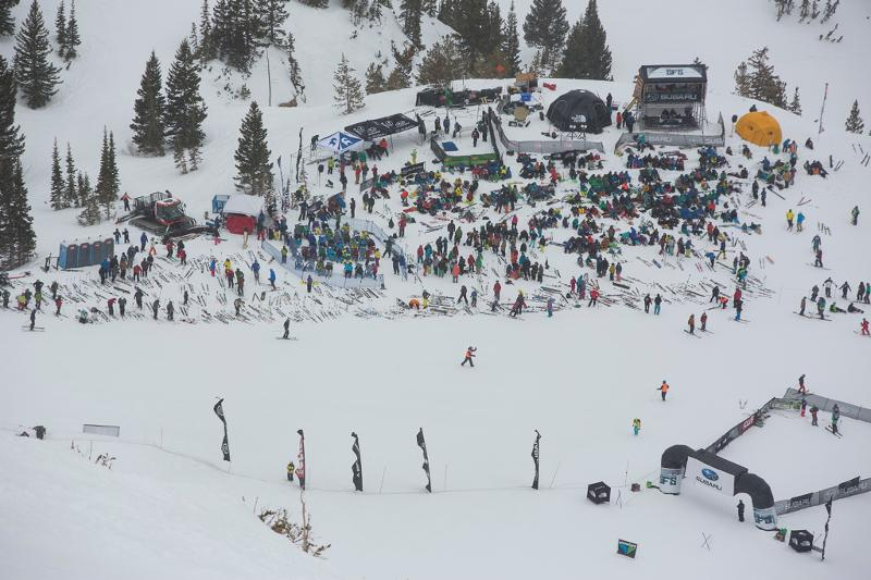 View from above of the 2013 Subaru Freeride Series. (Photo courtesy MSI)