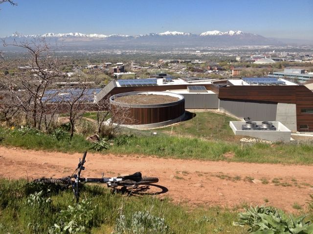 You'll ride above and below the new Natural History Museum on your way to Dry Creek Canyon. (Photo: Jared Hargrave - UtahOutside.com)