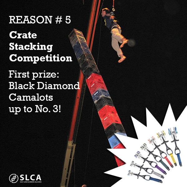 The 4th Annual SLCA Fundraiser will feature crate stacking. (Image courtesy SLCA)