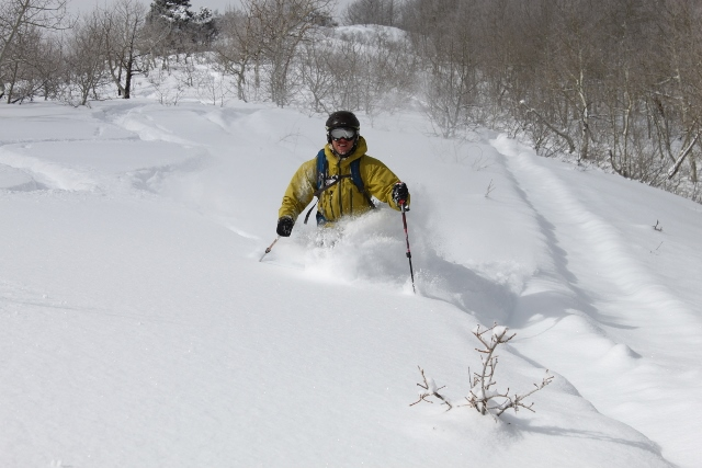 Mike DeBernardo skis Utah's famous powder snow during the 2012/13 ski season which saw a 5.4 increase in visits over the previous year. (Photo: Jared Hargrave - UtahOutside.com)