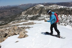 Adam drops into a spring snowpack from the summit of Mount Watson. (Photo: Jared Hargrave - UtahOutside.com)