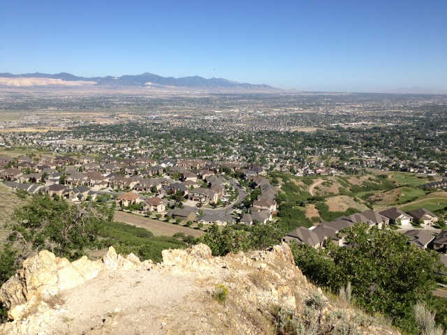 View of the Salt Lake Valley from Corner Canyon. (Photo: Dave Zook)