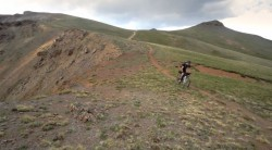 "Screen capture of the video, ""Colorado trail Race"" by Mike DeBernardo."