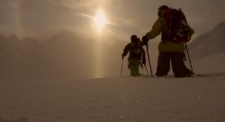 "Screen grab from the new backcountry ski movie ""Elevation"" by Powderwhore Productions."