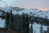 Sunrise over Alta as we skin toward Catherine Pass on our first backcountry tour of the season. (Photo: Jared Hargrave - UtahOutside.com)