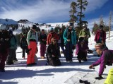 Participants learn how to search with a beacon at the S.A.F.E. A.S. Women's Avalanche Safety Workshop. (Photo: S.A.F.E. A.S.)