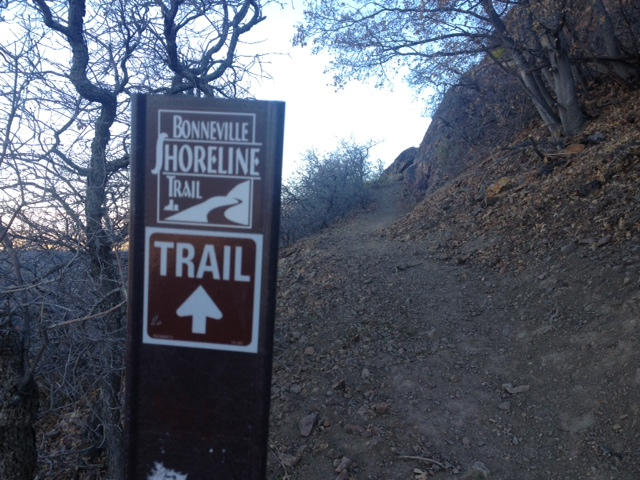 The new Bonneville Shoreline Trail is clearly marked. (Photo: Jared Hargrave - UtahOutside.com)