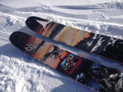 The Atomic Bent Chetler are beefy, rockered skis that can handle any conditions with ease. (Photo: Jared Hargrave - UtahOutside.com)