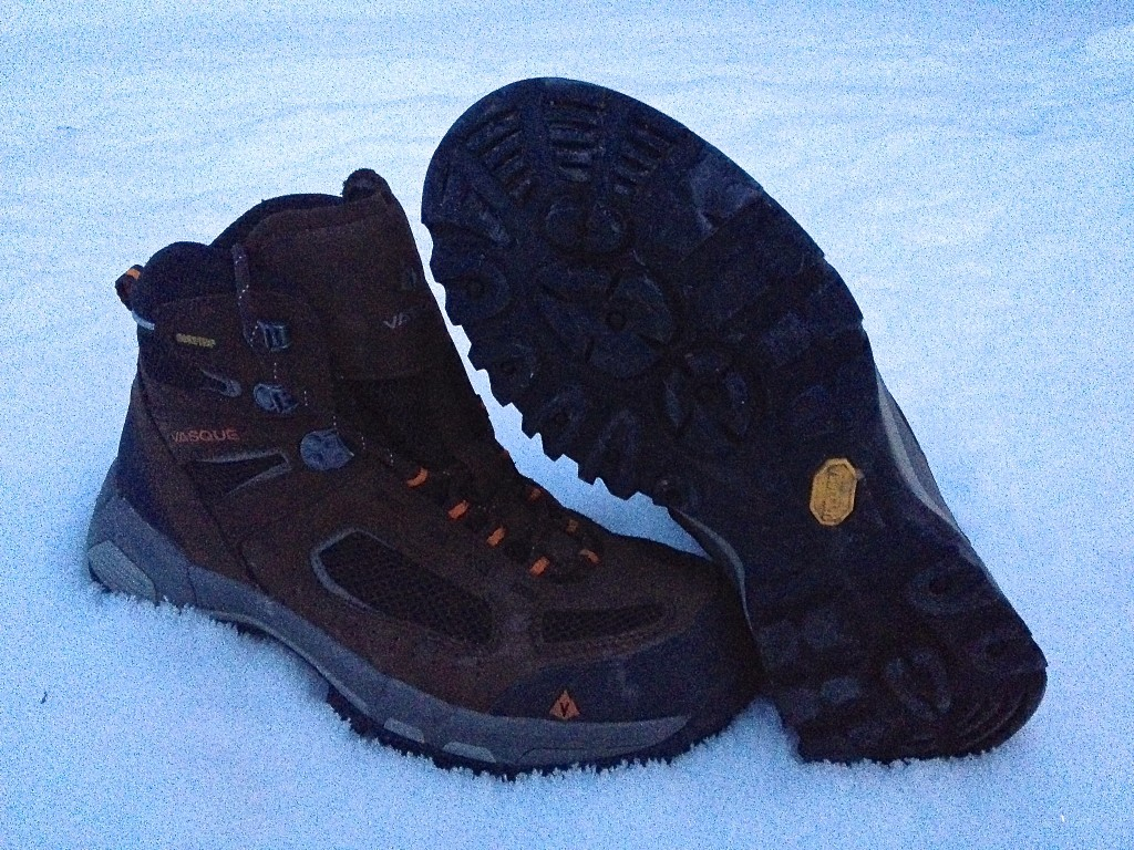 The lug pattern on the Breeze 2.0 GTX boots is hearty enough to tackle any conditions, even snow. (Photo: Ryan Malavolta)