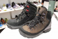 The ECCO Biom Hike boots are new at the Outdoor Retailer 2014 Winter Market. (Photo: Jared Hargrave - UtahOutside.com)