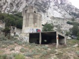The old Grit Mill stands abandoned in Little Cottonwood Canyon. It will be removed and a parking lot for rock climbers will go in its place.