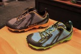 The mens and womens Oboz Helium shoes at Outdoor Retailer 2014 Winter Market. (Photo: Jared Hargrave - UtahOutside.com)