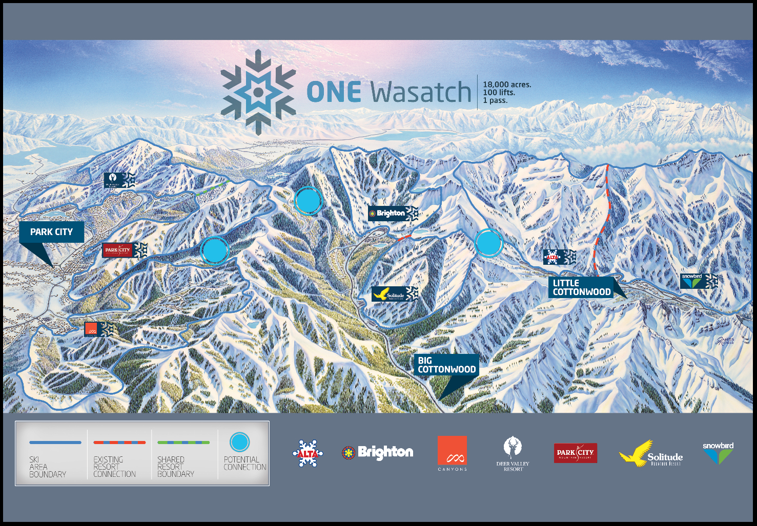 Utah's skiing past lives on in old ski maps on
