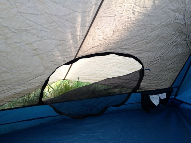 A look at the gear closet entry and some of the interior space of the Flash & Sierra Designs Flash 2 Tent review